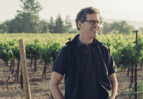 Paul Hobbs in the vineyard